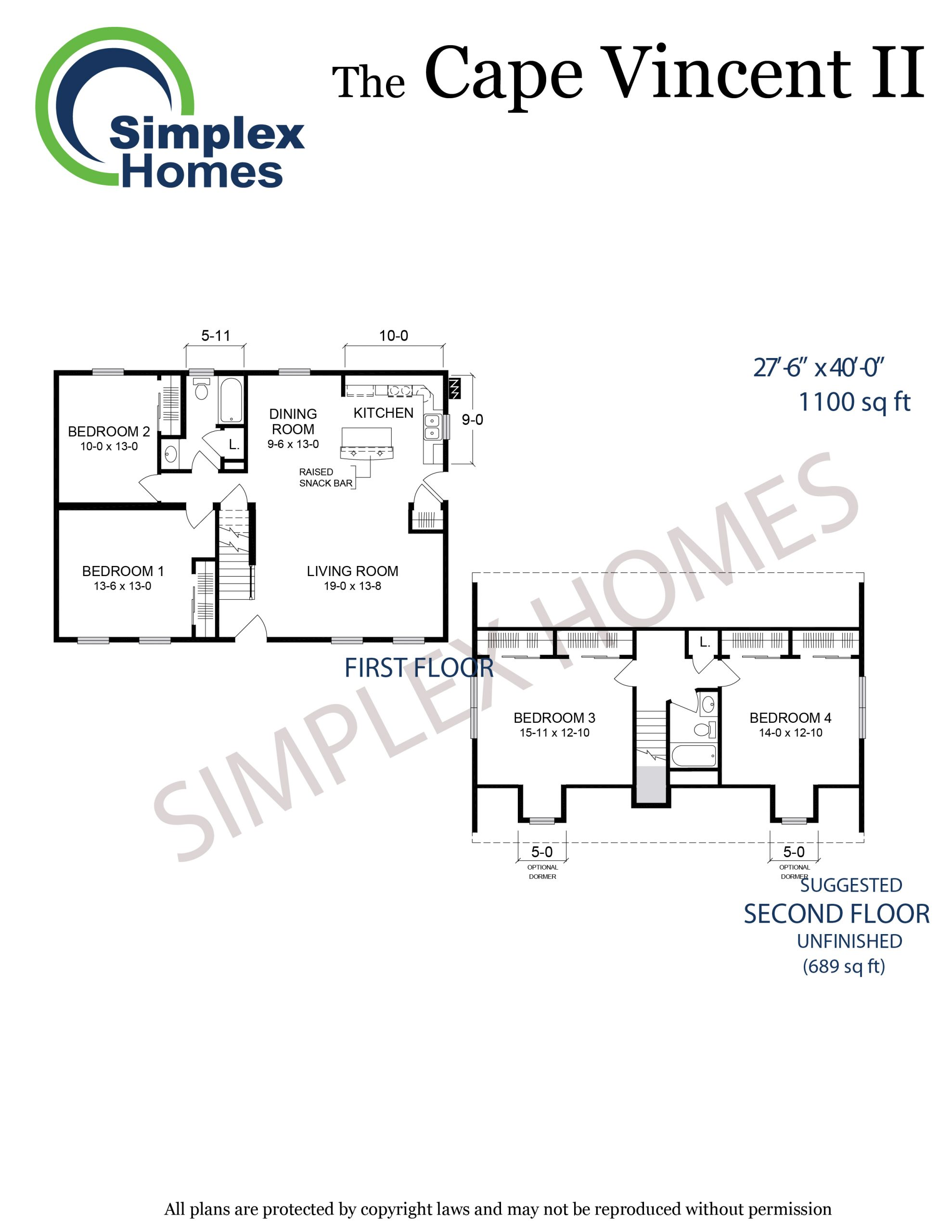 Cape Vincent II floor plan