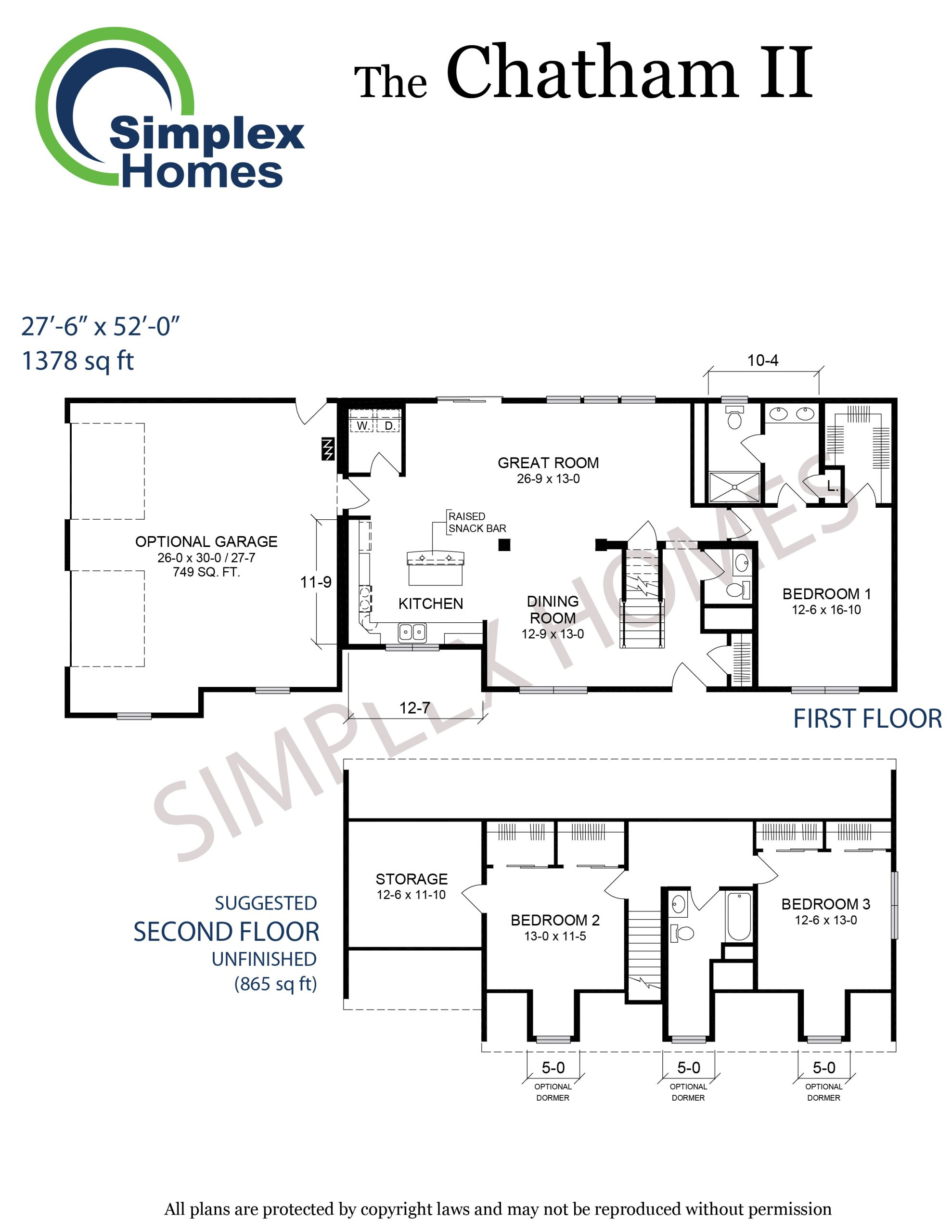 Chatham II floor plan