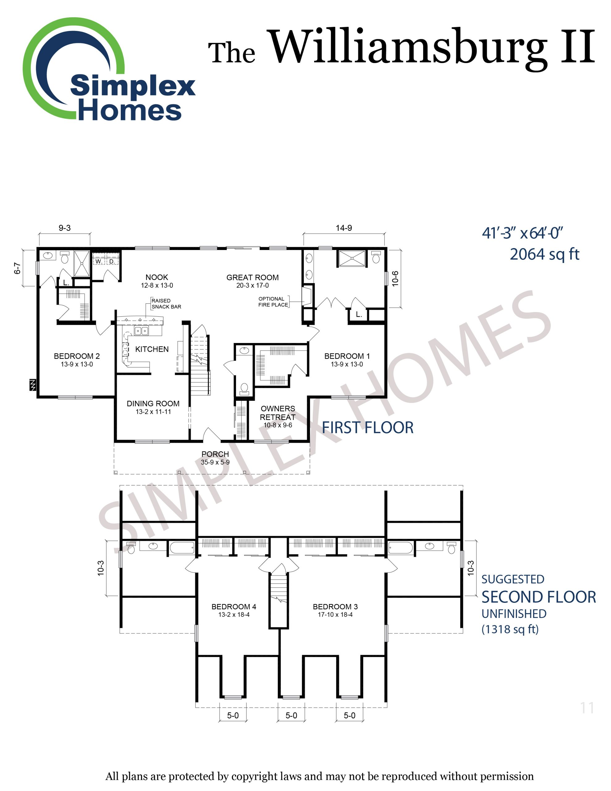 Williamsburg II floor plan